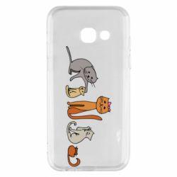 Чехол для Samsung A3 2017 Cat family