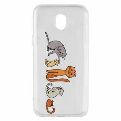 Чехол для Samsung J5 2017 Cat family