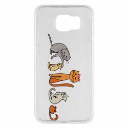 Чехол для Samsung S6 Cat family