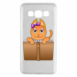 Чехол для Samsung A3 2015 Cat girl and book
