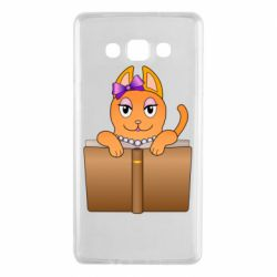 Чехол для Samsung A7 2015 Cat girl and book