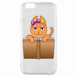 Чехол для iPhone 6/6S Cat girl and book