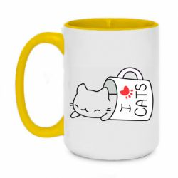 Кружка двоколірна 420ml Cat in a cup