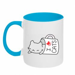 Кружка двоколірна 320ml Cat in a cup