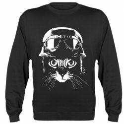 Реглан (світшот) Cat in a helmet silhouette