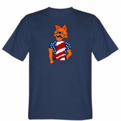 Мужская футболка Cat in American Flag T-shirt