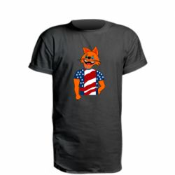 Удлиненная футболка Cat in American Flag T-shirt