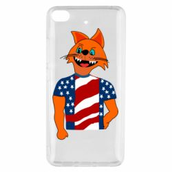 Чехол для Xiaomi Mi 5s Cat in American Flag T-shirt