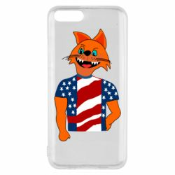 Чехол для Xiaomi Mi6 Cat in American Flag T-shirt