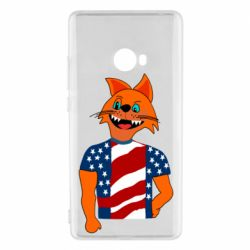 Чехол для Xiaomi Mi Note 2 Cat in American Flag T-shirt
