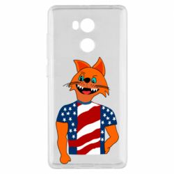 Чехол для Xiaomi Redmi 4 Pro/Prime Cat in American Flag T-shirt