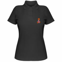 Женская футболка поло Cat in American Flag T-shirt