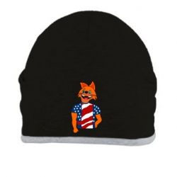 Шапка Cat in American Flag T-shirt