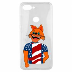 Чехол для Xiaomi Mi8 Lite Cat in American Flag T-shirt