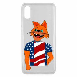 Чехол для Xiaomi Mi8 Pro Cat in American Flag T-shirt