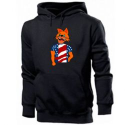 Мужская толстовка Cat in American Flag T-shirt