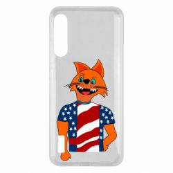 Чохол для Xiaomi Mi A3 Cat in American Flag T-shirt