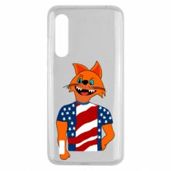 Чехол для Xiaomi Mi9 Lite Cat in American Flag T-shirt