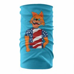 Бандана-труба Cat in American Flag T-shirt