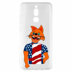 Чехол для Xiaomi Redmi 8 Cat in American Flag T-shirt