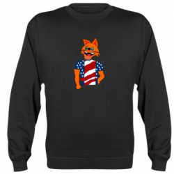 Реглан (свитшот) Cat in American Flag T-shirt