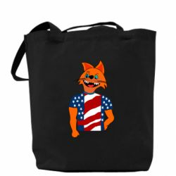 Сумка Cat in American Flag T-shirt