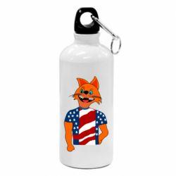 Фляга Cat in American Flag T-shirt