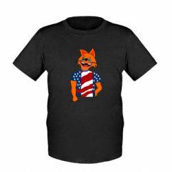 Детская футболка Cat in American Flag T-shirt