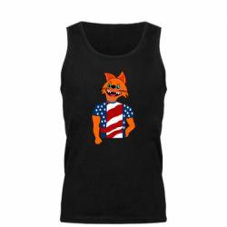 Мужская майка Cat in American Flag T-shirt