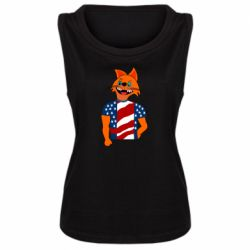 Женская майка Cat in American Flag T-shirt