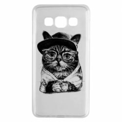 Чохол для Samsung A3 2015 Cat in glasses and a cap