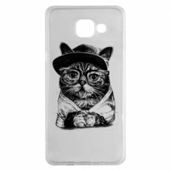 Чохол для Samsung A5 2016 Cat in glasses and a cap