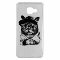Чохол для Samsung A7 2016 Cat in glasses and a cap