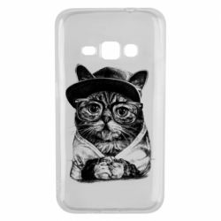 Чохол для Samsung J1 2016 Cat in glasses and a cap