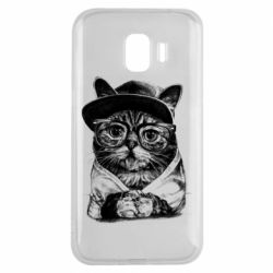Чохол для Samsung J2 2018 Cat in glasses and a cap