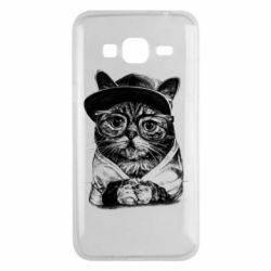 Чохол для Samsung J3 2016 Cat in glasses and a cap