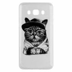 Чохол для Samsung J5 2016 Cat in glasses and a cap