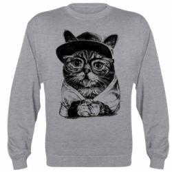 Реглан (світшот) Cat in glasses and a cap