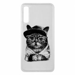 Чохол для Samsung A7 2018 Cat in glasses and a cap