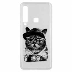 Чохол для Samsung A9 2018 Cat in glasses and a cap