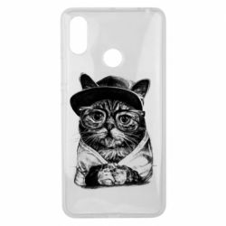 Чохол для Xiaomi Mi Max 3 Cat in glasses and a cap