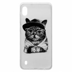 Чохол для Samsung A10 Cat in glasses and a cap