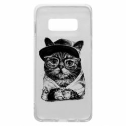 Чохол для Samsung S10e Cat in glasses and a cap