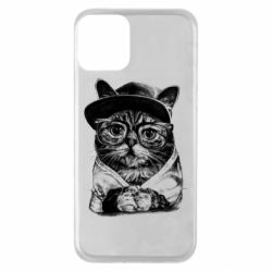 Чохол для iPhone 11 Cat in glasses and a cap