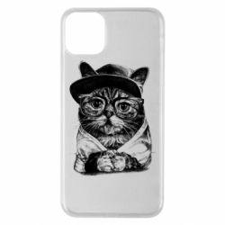 Чохол для iPhone 11 Pro Max Cat in glasses and a cap