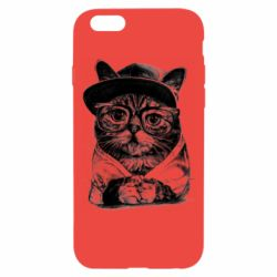 Чохол для iPhone 6/6S Cat in glasses and a cap