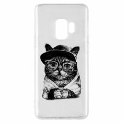Чохол для Samsung S9 Cat in glasses and a cap