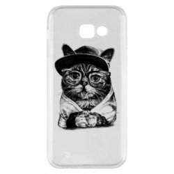 Чохол для Samsung A5 2017 Cat in glasses and a cap