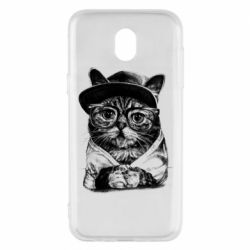 Чохол для Samsung J5 2017 Cat in glasses and a cap