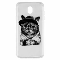 Чохол для Samsung J7 2017 Cat in glasses and a cap